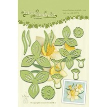 Leabilities, stamping - and embossing stencil, Daffodil