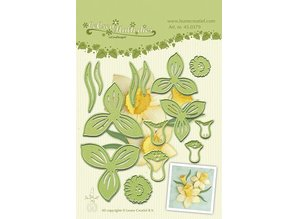 Leane Creatief - Lea'bilities Leabilities, stamping - and embossing stencil, Daffodil