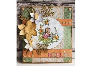 Leane Creatief - Lea'bilities Leabilities, estampar - y esténcil relieve, narciso