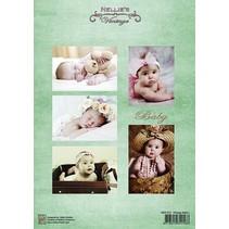 Bilderbogen A4, Vintage Babies