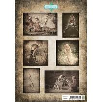 Bilderbogen A4, Vintage Kinder