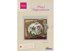 Bücher und CD / Magazines Magazine, primavera Tarjetas de Petra por Marianne Design (NL)