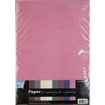 Textilmuster, A4 Papierset, 10 Blatt Sortiment
