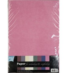 DESIGNER BLÖCKE  / DESIGNER PAPER Textile patterns, A4 paper set, 10 sheets Assortment