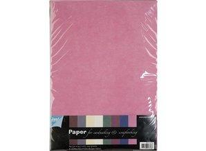 DESIGNER BLÖCKE  / DESIGNER PAPER Tekstil mønstre, A4-papir sæt, 10 ark Sortiment