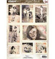 Vintage, Nostalgia und Shabby Shic Gestantzte A4 3D ark - Romantic Picture