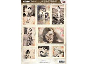 Vintage, Nostalgia und Shabby Shic Hoja A4 Gestantzte 3D - Imagen Romántica