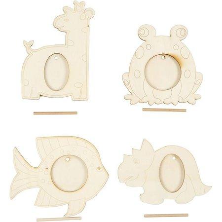 Objekten zum Dekorieren / objects for decorating 4 frame, størrelse 10x15 cm
