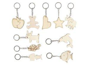 Objekten zum Dekorieren / objects for decorating Bastelset: 10 key rings, mobile phone pendant