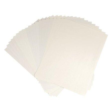 DESIGNER BLÖCKE  / DESIGNER PAPER Gemustertes Papier, 20 Blatt structure paper, creme farben