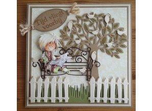 Cart-Us Punzonatura e Pägeschablone: albero con foglie