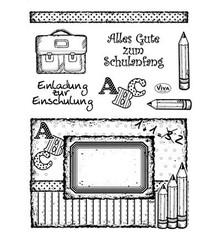 Viva Dekor und My paperworld Gennemsigtige frimærker, skolesøgende