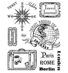 Viva Dekor und My paperworld Timbri trasparenti, Parigi-Roma-Berlino