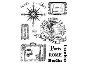 Viva Dekor und My paperworld Klare stempler, Paris-Rome-Berlin