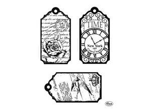 Viva Dekor und My paperworld Clear stamps, vintage Labels
