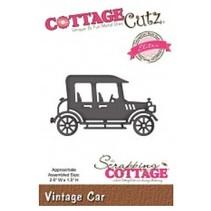Corte y estampación plantillas, CottageCutz, Vintage Car