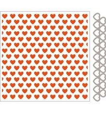 Marianne Design Embossingfolder + template pugno cuore