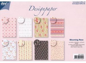 Joy!Crafts und JM Creation Designer Block by Joy Crafts, 16 sheets, A4, Blooming Rose