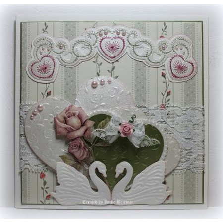 Joy!Crafts und JM Creation Designer Block fra Joy Crafts, 16 ark, A4, Blooming Rose