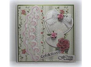 Joy!Crafts und JM Creation Designer Block fra Joy Crafts, 16 ark, A4, Blooming Rose