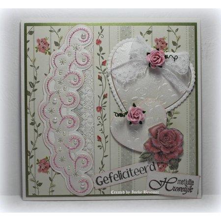 Joy!Crafts und JM Creation Designer Block von Joy Crafts, 16 Blatt, A4, Blooming Rose