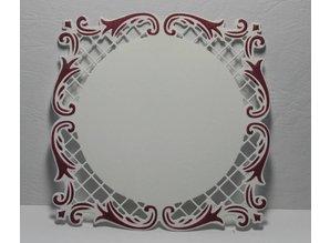 Joy!Crafts und JM Creation Glæde! Crafts stempling og prægning stencil skabelon en firkantet 11 cm x 11 cm
