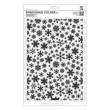 X-Cut / Docrafts A4 emboss.templ with snowflakes