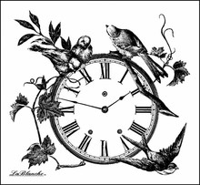 LaBlanche LaBlanche Stempel:  Floral Clock