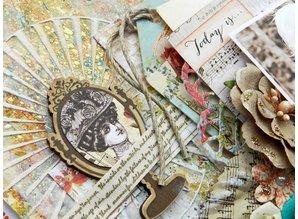 Scrapbooking ... Adornos, piezas de madera: Bella rouge