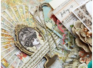 Scrapbooking ... Ornaments, wooden parts: Bella rouge