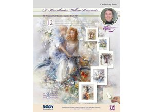BASTELSETS / CRAFT KITS: Craft tegnebog vintage til design af 12 kort
