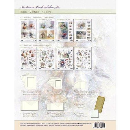 BASTELSETS / CRAFT KITS: Craft tegnebog vintage til design af 12 kort