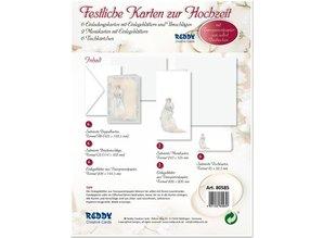BASTELSETS / CRAFT KITS: Edeles Kartenset zu festliche Anlässe, Brautpaar weiss