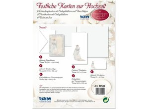 BASTELSETS / CRAFT KITS: Edeles of cards to festive occasions, newlyweds white