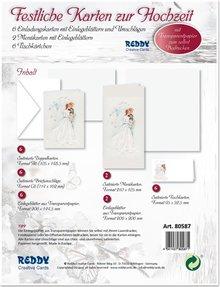 BASTELSETS / CRAFT KITS: Edeles di carte per occasioni festive, Wedding Cake Bianco-Nero