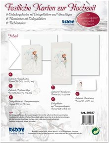BASTELSETS / CRAFT KITS: Edeles of cards to festive occasions, Wedding Cake White-Black