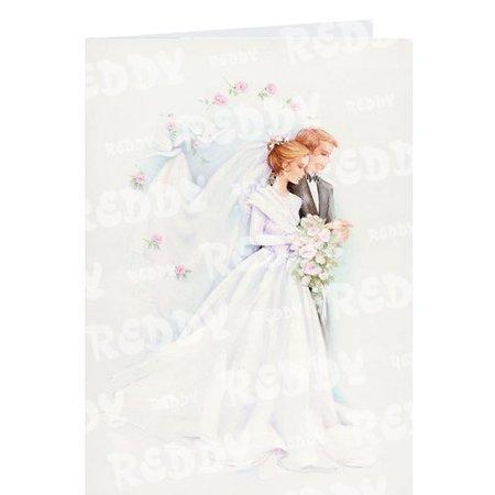BASTELSETS / CRAFT KITS: Edeles Kartenset zu festliche Anlässe, Brautpaar weiss-schwarz