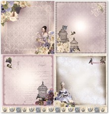 """Designer Papier Scrapbooking: 30,5 x 30,5 cm Papier Designpapier """"nostalgie"""""""