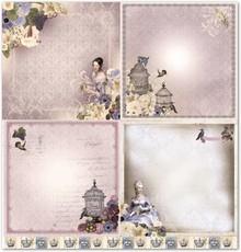"Designer Papier Scrapbooking: 30,5 x 30,5 cm Papier Design papir ""nostalgi"""