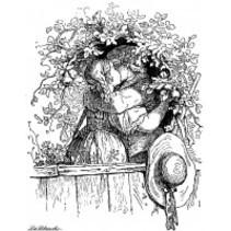 Stempel: kussen liefhebbers