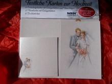 BASTELSETS / CRAFT KITS: Edeles di carte per occasioni festive, Wedding bianco-blu