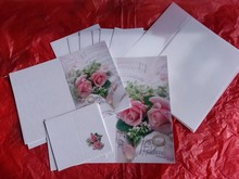 BASTELSETS / CRAFT KITS: Edeles di carte per occasioni festive, anelli di nozze con rose rosa