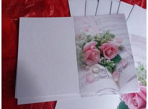 BASTELSETS / CRAFT KITS: Edeles of cards to festive occasions, wedding rings with pink roses