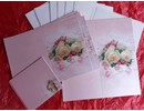BASTELSETS / CRAFT KITS: Edeles de cartas para ocasiones festivas, los anillos de boda con rosas blancas