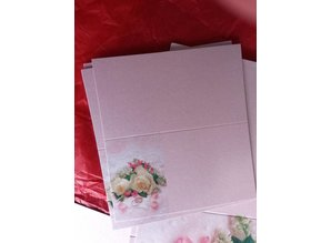 BASTELSETS / CRAFT KITS: Edeles of cards to festive occasions, wedding rings with white roses