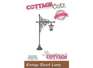 Cottage Cutz Stansning og prægning skabeloner Vintage lygtepæl