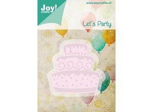 Joy!Crafts und JM Creation Stamping and embossing stencil template Let's Party