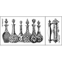 Lablanche stempel: glazen kannen, parfum flesjes (2 stamps)