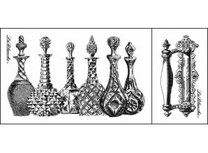 LaBlanche Lablanche stempel: Glas Karafler, parfume hætteglas (2 stempler)