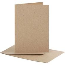 KARTEN und Zubehör / Cards Set: carte e buste, formato carta di 7,5x10,5 cm, natura